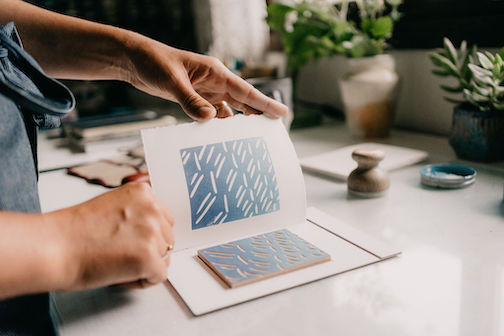 Nan Onkka will teach a virtual class on block printmaking.
