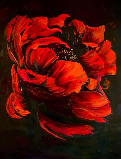 """""""Tango after Dark"""" by Kathy Fox Weinberg has been juried into an online exhibit at the White Bear Arts Center."""