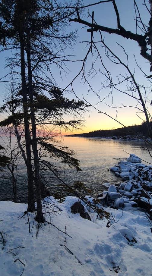 Winter shore by Mara Trinka Harter.