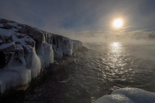 Winter sun by Mark Tessier.