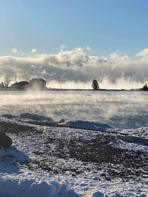 I love living in Grand Marais. This is what I saw today by Mary Beams.