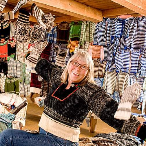 "Annemor Sundbø, the ""sweater detective,"" will be featured on North House Folk School's Lunch & Learn webinar this week with her research into the most familiar and well-loved Norwegian knitwear. To register, click here."