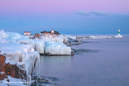 Ice on the Big Lake by Paul Sundberg.
