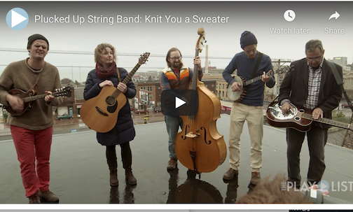 The Plucked Up String Band playing on a rooftop in Duluth for WDSE's The Playlist. Click here to see the video.