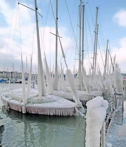 It's pretty frosty in Houston. Photo courtesy of Sailing anarchy.
