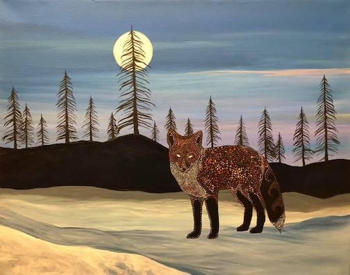 Biboon Waagosh, Winter Fox by Sam Zimmerman.