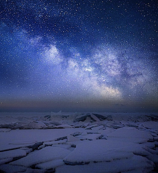 Milky Way in February on the North Shore by Shizuka.