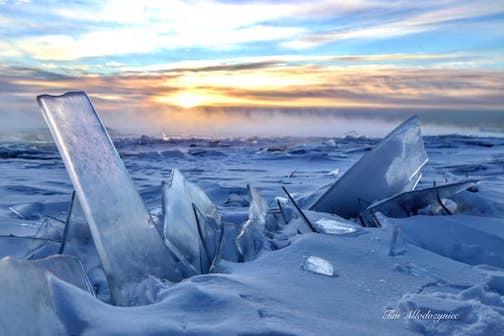 When it gets down to around minus 25, Lake Superior creates magic.