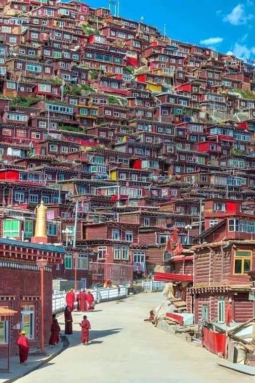 Village in Tibet. Imagine being a mailman.