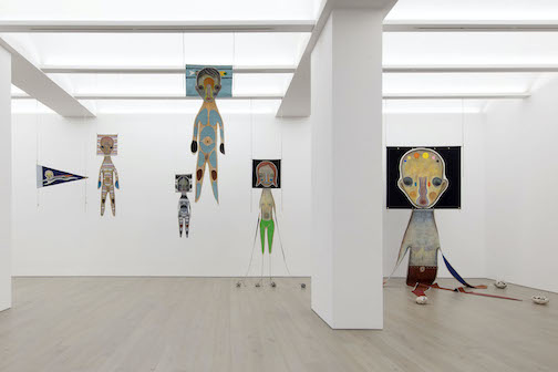 """A view of Izumi Kato's exhibit, """"Surounded by Spirits."""""""