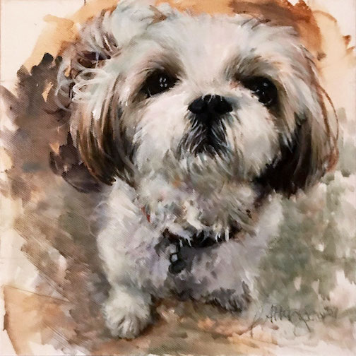 """Izzy,"" a painting recently completed by Jan Attridge."