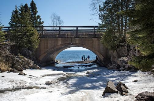 Cascade Bridge at Lake Superior. Photo courtesy of Northshore Explorer.