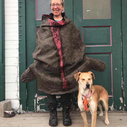 """Elise Kyllo posted this photo a few weeks ago. """"Hard to believe this will become a vest once it's felted."""""""