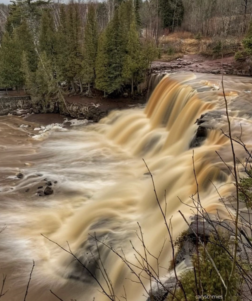 The spring thaw has started! Gooseberry Falls by Gary Schmies.