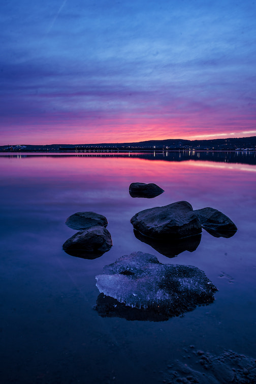 Caught a nice sunset in Duluth by Jesse Nord.