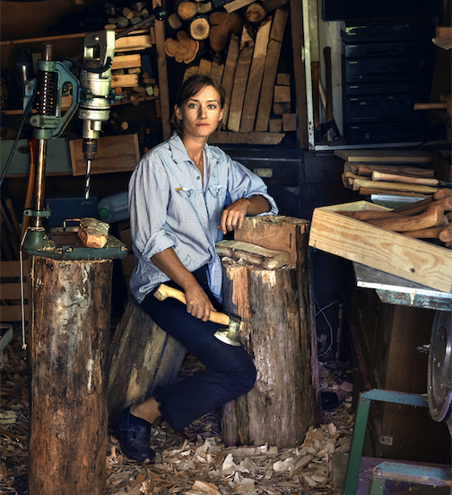 Julia Kalthoff, who specializes in making the perfect axe, will be featured presenter in this Friday's online Lunch & Learn at North House Folk School. To register, click here. Free.
