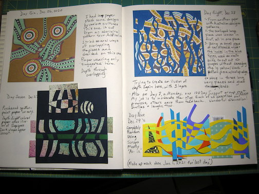 Max Linehan's workbook from the 100-day Project.