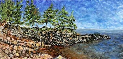 Lake Superior Trees by Susan Gecas.