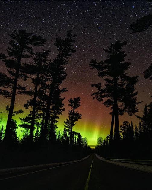 Northern Lights on the Trail by Tim Graul.