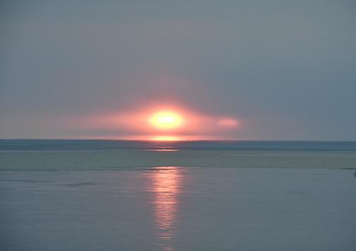 Winter sunrise by Hella Buchheim.