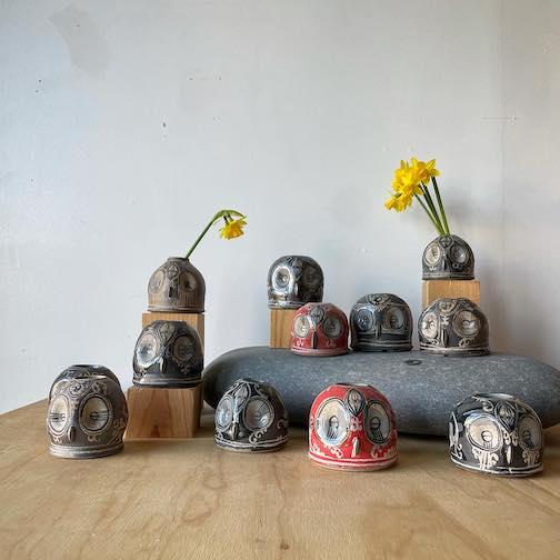 Small vases by David Swenson at Upstate MN.