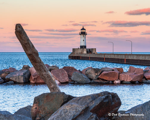 Evening sunset in Duluth by Dick Brockman.