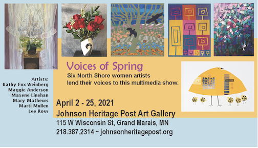 "A new exhibit, ""Voices of Spring,"" opens at the Johnson Heritage Post on Friday, with an Artist Tour at 2 p.m. Saturday."