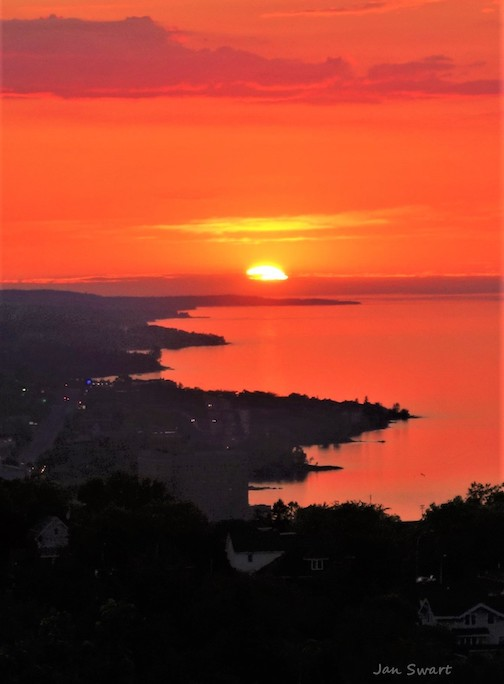 Sunrise over Duluth by Jan Swart.