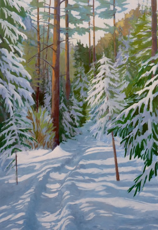 """Close to the Canadian Border"" by Paul Gustafson."