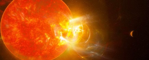 Proxima Centaur, one of our near stars,i had a record flare recently.Photo courtesy ItNRAS-Dagnello.