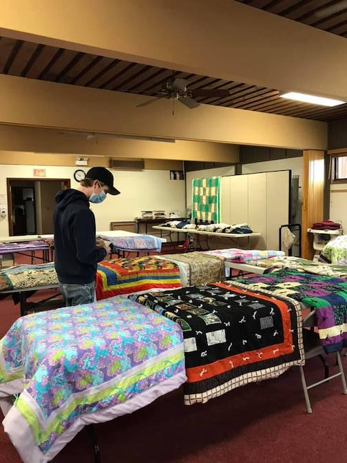 Senior Quilt Picking Day at Bethlehem Lutheran Church by Theresa Chmelik.
