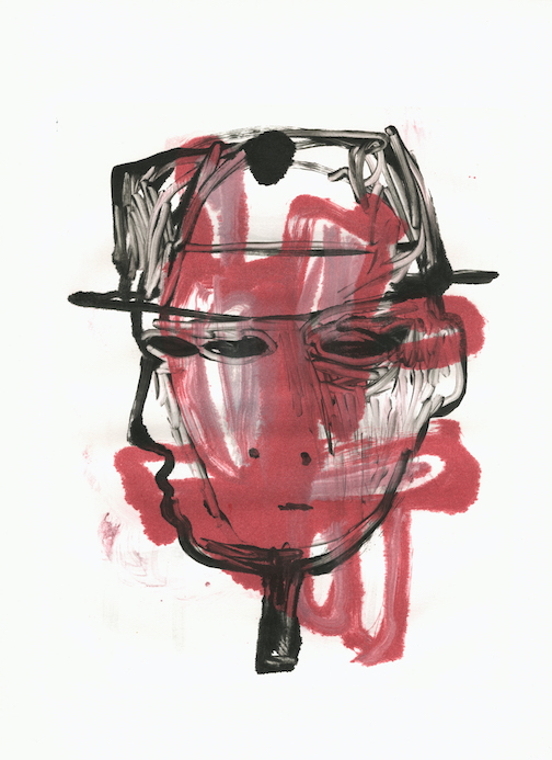 Self-Portrait, monoprint by Andy Ness.