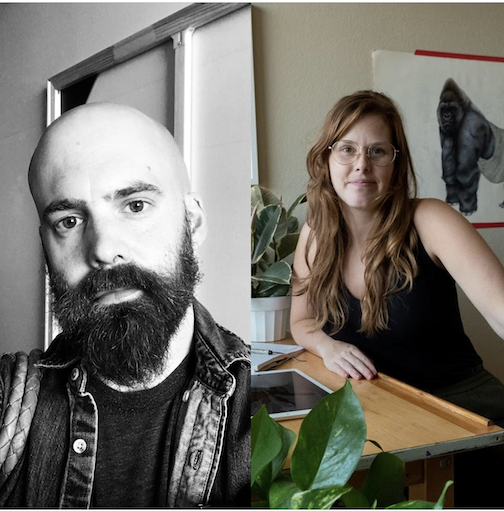 Painter/printmaker Andy Ness and illustrator Sarah Ann Nelson will both be featured as the Grand Marais Art Colony's Instagram Takeover Artists this week. See them here.