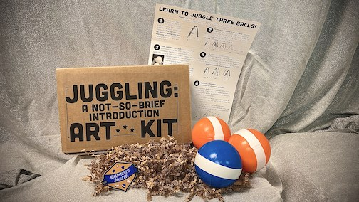 Learn to juggle. Free juggling kits now available at the library through May 31 or until gone.