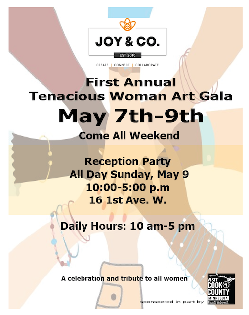 The Tenacious Woman Art Gala will be held this weekend at Joy & Co.