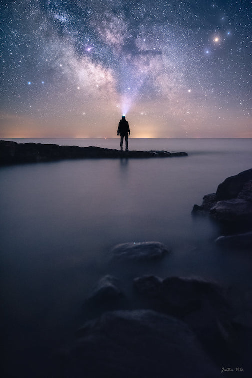 Gazing up into the heavens on a night that felt as if time stood still by Justin Vrba.