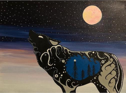 Ma'iingan-A-Year-of-Stars by Sam Zimmerman.