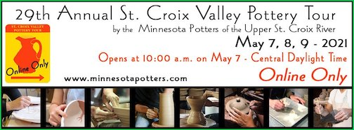 The St. Croix Valley Pottery Tour is online again this year.