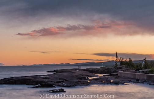 Enjoying a Grand Marais sunset by David Johnson.