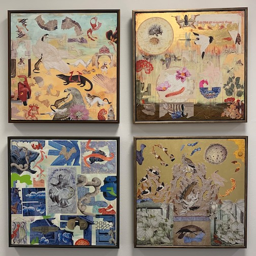 Karlyn Atkinson's collage paintings are on exhibit at the Duluth Art Institute.