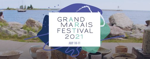 The Grand Marais Arts Festival will be July 10-11 this year and will be held in the parking lot of ISD 166 due to road construction work in Grand Marais.