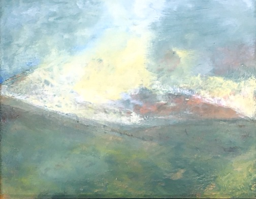 New Zealand, oil and wax by Ron Piercy.