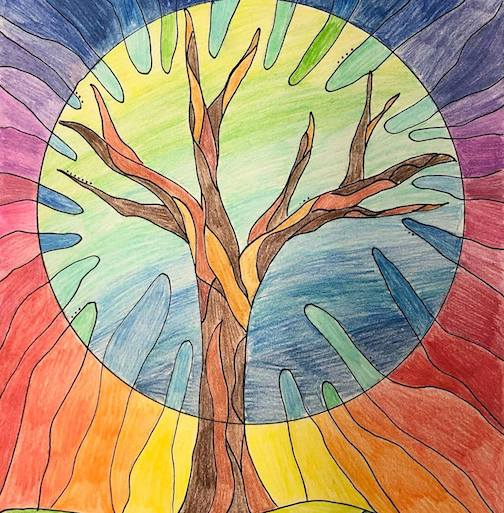 The Colour Tree by Gordon Robichaud, a student at Dryden High School in Ontario.