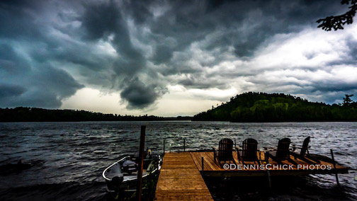 Storm coming in by Dennis Chick.