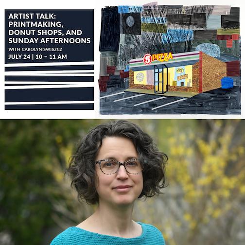 Carolyn Swiszcz will give an Artist Talk at 10 a.m. on Saturday, July 24, at Studio 21.