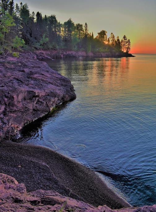 Dawn on Lake Superior by Jan Swart.