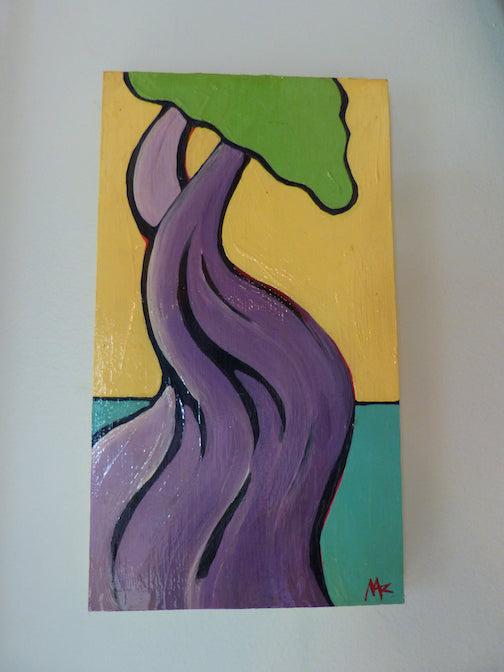 Manido Gizhigansit,  Little Cedar Spirit Tree by Musa Abdel Rahman.
