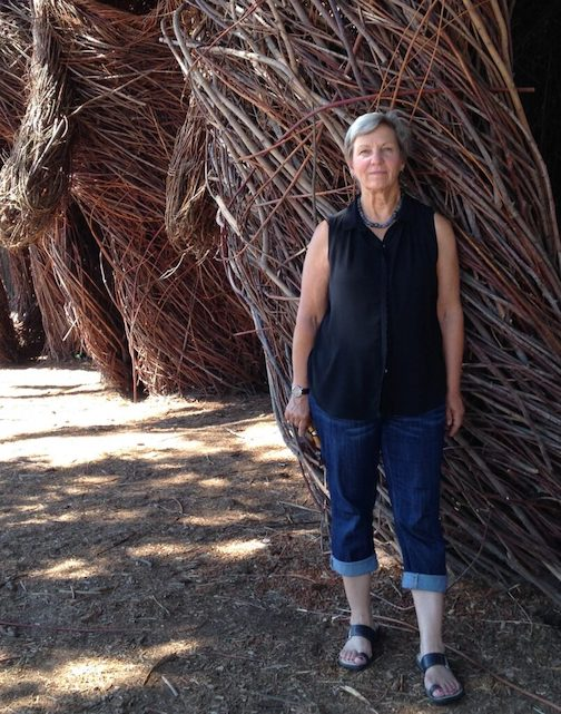 Willow basketmaker Jo Campbell-Amsler will be demonstrating her craft at North House Folk School this week.