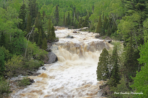 The Beaver River after a normal summer rain by Paul Sundberg. This photo was taken a few years ago.
