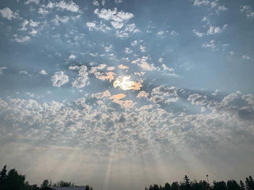 So pretty at 9 a.m. in Grand Marais. Photograph bay Sierra Parsons.